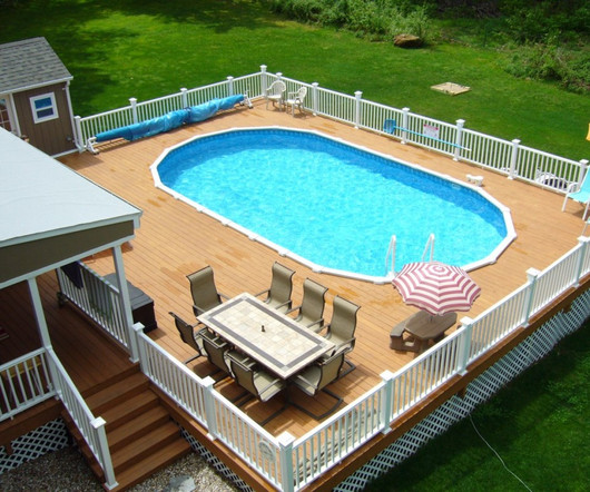 9 best wooden decks around above ground pools - Above Ground Pool Deck Off House